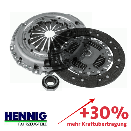 Reinforced clutch kit – up to 30% more transmittable torque 3000951731-3000V