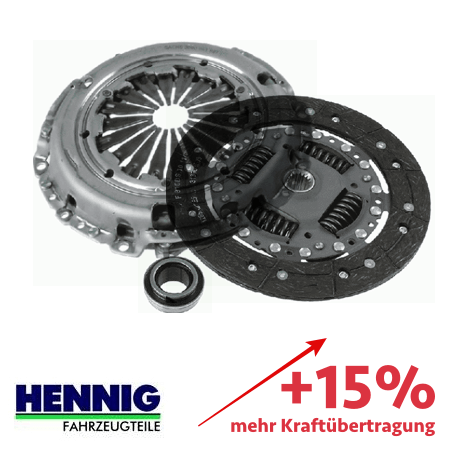 Reinforced clutch kit – up to 15% more transmittable torque 3000829001-1861V