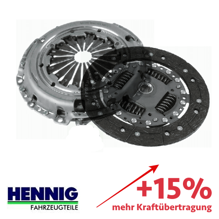 Reinforced clutch kit – up to 15% more transmittable torque 3000951825-1861VAB
